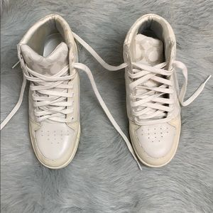COACH high top sneakers Size 7